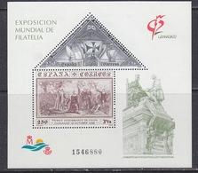 Spain 1992 Philatelic Exhibition Granada M/s ** Mnh (41690G) - Blocs & Feuillets