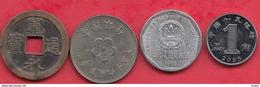 Chine -Japon 4 Pièces Dans L 'état (Japon 1 Er Pièce ---1 Kanei Année 1741) Lot N °15 - Monnaies