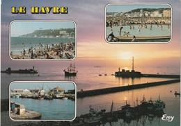 76 Le Havre. Vue Multi Vues. La Plage Vers Sainte Adresse - Le Havre
