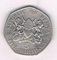 5 SHILLINGS   1985 KENIA / 0468// - Kenya