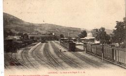 LANGEAC LA GARE ET LE DEPOT DES MACHINES P.L.M. - Langeac
