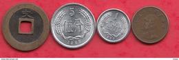Chine -Japon 4 Pièces Dans L 'état (Japon 1 Er Pièce ---1 Kanei Année 1741) Lot N °14 - Monnaies