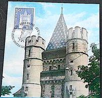Schweiz Suisse 1967: Zu 363 Mi 704 Yv 651 SPALENTOR Mit O BASEL ISRAEL BRIEFMARKEN-AUSSTELLUNG 1967 (TheodorHerzl) - Judaisme