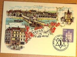 Schweiz Suisse 1997: Zu 363 Mi 704 Yv 651 GRUSS AUS BASEL O 100 JAHRE 1.ZIONISTENKONGRESS 1997 - Judaisme
