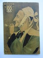 André Stéfan, Personnage Traditionnel, Coiffe De La Région De Scoër, Bretagne - Künstlerkarten