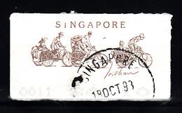 Singapoor 1992 Mi Nr 5 ATM, Fiets, Bike, - Singapour (1959-...)