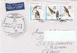 """A.E. CDT BOURDAIS - ZM OI - En Somalie... Série """"Oiseaux"""" - Marcophilie (Lettres)"""