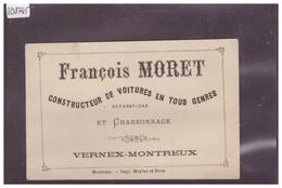 DISTRICT DE VEVEY - VERNEX MONTREUX - FRANCOIS MORET, CONSTRUCTEUR DE VOITURES - TB - VD Vaud