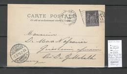 France- Exposition Universelle De 1900 - Flamme Drapeau - Pour Griesheim - Allemagne - Postmark Collection (Covers)