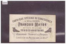 DISTRICT DE VEVEY - VERNEX MONTREUX - FRANCOIS MAYOR, FABRIQUE DE CHAUSSURES- TB - VD Vaud