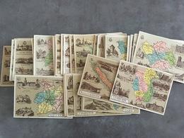 LOT DE 103 CHROMOS 84 DEPARTEMENTS FRANCAIS 19 HISTOIRE DE L'HABITATION - Trade Cards