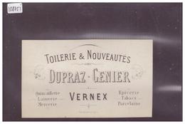 DISTRICT DE VEVEY - VERNEX MONTREUX - TOILERIE & NOUVAUTES DUPRAZ GENIER - TB - VD Vaud