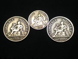 JOLI  LOT 50 CENTIMES ET 2 X  1 FRANC CHAMBRE DE COMMERCE ET INDUSTRIE 1920-26-29 DATES RECHERCHÉES !!!!! Lot-sctn°18 - France