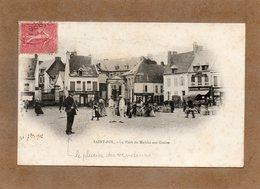 CPA - SAINT-POL-sur-TERNOISE (62) - Aspect Du Placier Des Vendeurs Sur La Place Du Marché Aux Grains En 1902 - Saint Pol Sur Ternoise