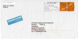Cover: France - Kyrgyzstan, 2000. Postal Stationery, Port Payé. - France