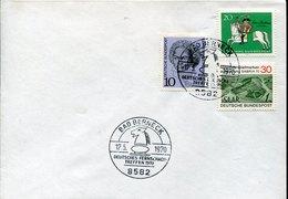 41607 Germany, Special Postmark 1970 Bad Berneck, Deutsche  Fern Schach,  Chess, Eches - Chess