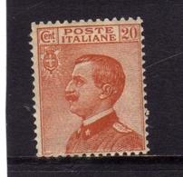 ITALIA REGNO ITALY KINGDOM 1925 RE VITTORIO EMANUELE TIPO DEL 1908 CENT. 20c BEN CENTRATO - Nuovi
