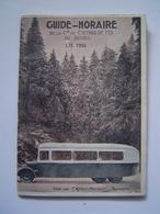 BROCHURE Ancienne : GUIDE HORAIRES / AUTORAIL - CHEMINS DE FER DU DOUBS 1934 - Dépliants Touristiques