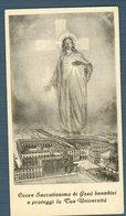 °°° Santino - Cuore Sacratissimo Di Gesù Benedici E Proteggi La Tua Università °°° - Religione & Esoterismo