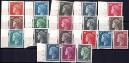 1949 & 1953 Série Grande-Duchesse Charlotte, Neuf, Michel 2019: 442-459,511, Valeur Catalogue: 51,20€ - Luxembourg