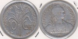 French Indo-China 10 Cents 1945 KM#28.1 - Used - Colonie