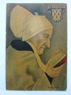 André Stéfan, Personnage Traditionnel, Coiffe De La Région De Châteaulin, Bretagne - Künstlerkarten