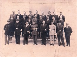 Rare Grande Photo Groupe Militaire Avec Général+gendarmes +militaires Du 117 Et Du 71 ème Format 24 X 18 Cm - 1914-18