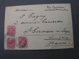 Potchefstroom Cv. To France , Royal Hotel 1899 Kl. Riß Not Perfect - Südafrika (...-1961)