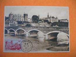 Carte Maximum France  1939  N° 449 Le Château De Pau - Cartes-Maximum