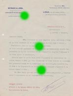 Liège MENAGE & JOWA Courrier Adressé à DOZOT Entrepreneur à Cerexhe Heuseux En 1916 - Belgique