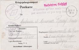 """1940 / Courrier De Prisonnier Stalag VA / Griffe"""" N'écrivez Qu'une Seule Lettre Par Semaine Et Pas Trop Longue"""" - 1939-45"""