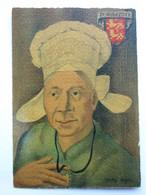 André Stéfan, Personnage Traditionnel, Coiffe De La Région D'Avranches, Normandie - Künstlerkarten