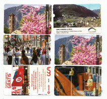 Bienvenue à Andorra La Vella.   6 Tickets Parkings D'ANDORRE VILLE. - Voitures