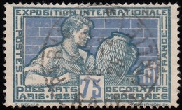FRANCE - Scott #224 Potter Decorating Vase / Used Stamp - France