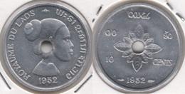 Laos 10 Cents 1952 KM#4 - Used - Laos