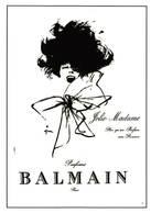 Publicté Parfum Balmain Illustrateur Gruau - Künstlerkarten