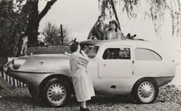 Très Rare Photo Originale Voiture Amphibie Années 40-50 Format 13x8.5 Cm - Automobiles