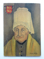 André Stéfan, Personnage Traditionnel, Coiffe De La Région De Vire, Normandie - Künstlerkarten