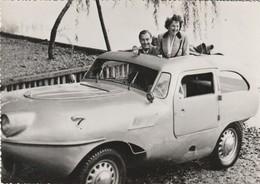 Très Rare Photo Originale Voiture Amphibie Années 40-50 Format 16.5x11.5 Cm - Automobiles