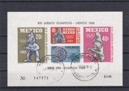Mexico 1968 Olympic Games Mexico Souvenir Sheet Used (H34) - Ete 1968: Mexico