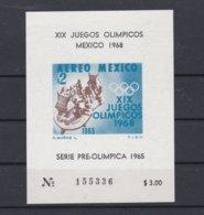 Mexico 1968 Olympic Games Mexico Souvenir Sheet MNH/** (H34) - Sommer 1968: Mexico