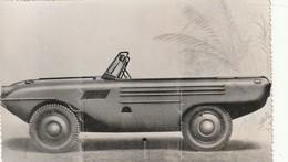 Très Rare Photo Originale Voiture Amphibie Années 40-50 Format 17.5x11 Cm - Automobiles