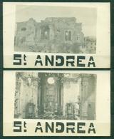 CARTOLINA - GORIZIA - Z1331 GORIZIA (GO) Cheisa Di S. Andrea Prima Guerra Mondiale WW1, FP, 2 Cartoline Non Viaggiata - Gorizia