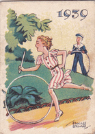 CALENDRIER Miniature Ancien De 1939 @ Format Carnet Calepin 6 X 4,4 Cm PUB CIRAGE ECLIPSE Illustrateur Edouard Bernard - Calendriers