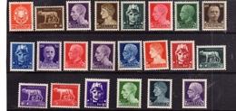 ITALY KINGDOM ITALIA REGNO 1929 - 1942 IMPERIALE SERIE COMPLETA COMPLETE SET MNH BEN CENTRATA - 1900-44 Victor Emmanuel III
