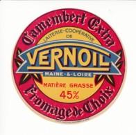 Etiquette De Fromage Camembert - Vernoil - Maine Et Loire. - Fromage