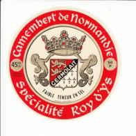 Etiquette De Fromage Camembert - Roy D'Ys - Manche. - Fromage
