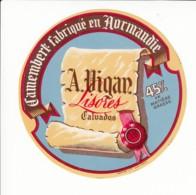 Etiquette De Fromage Camembert - Vigan - Lisores - Calvados. - Fromage