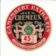Etiquette De Fromage Camembert - Le Crèmeux - St Yrieix - Charente. - Fromage