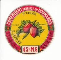 Etiquette De Fromage Camembert - Lefèvre - St Georges Des Groseillers - Orne. - Fromage